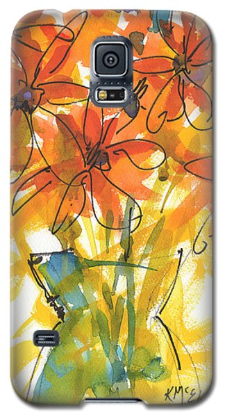 Celebration Of Sunflowers Watercolor Painting By Kmcelwaine Galaxy S5 Case