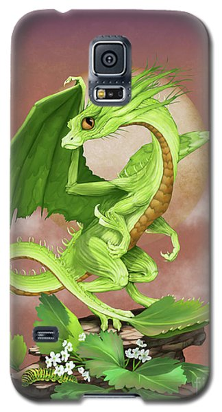Galaxy S5 Case featuring the digital art Celery Dragon by Stanley Morrison