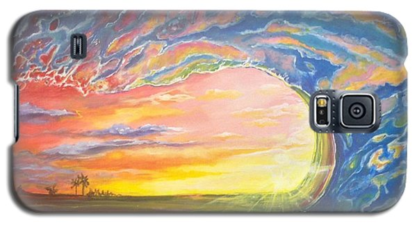 Galaxy S5 Case featuring the painting Celestial Break by Dawn Harrell