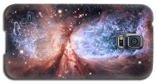 Galaxy S5 Case featuring the photograph Celestial Snow Angel - Enhanced - Sharpless 2-106 by Adam Romanowicz
