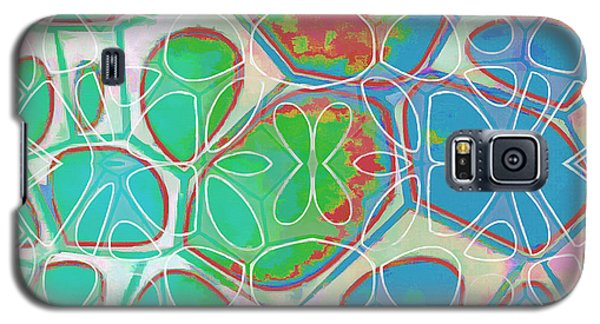 Blue Galaxy S5 Case - Cell Abstract 10 by Edward Fielding