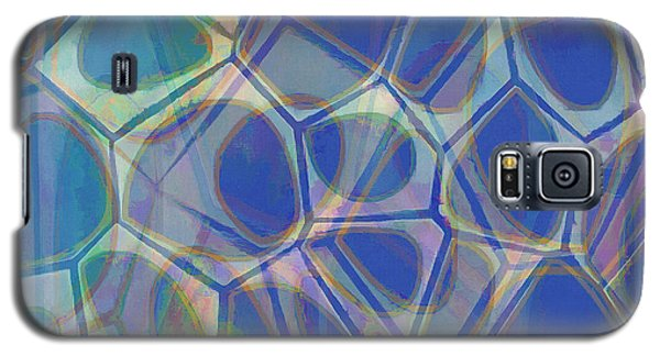 Blue Galaxy S5 Case - Cell Abstract One by Edward Fielding