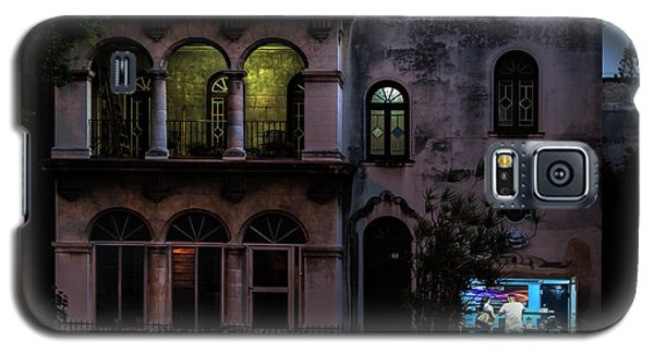 Galaxy S5 Case featuring the photograph Cell Phone Shop Havana Cuba by Charles Harden