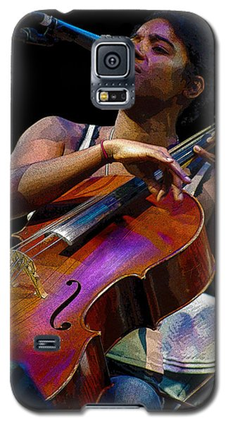 Galaxy S5 Case featuring the digital art Cellist by Jim Mathis