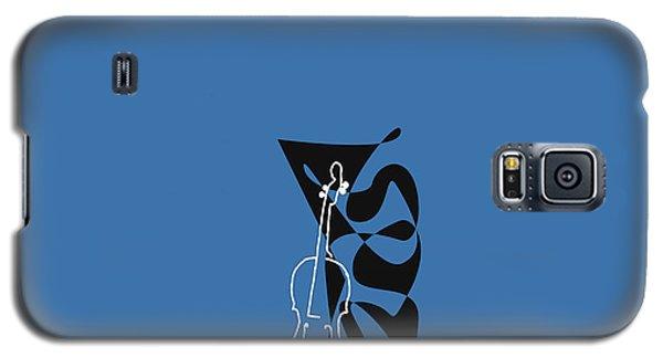Cello In Blue Galaxy S5 Case by David Bridburg
