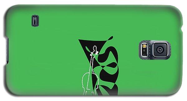 Cello In Green Galaxy S5 Case by David Bridburg