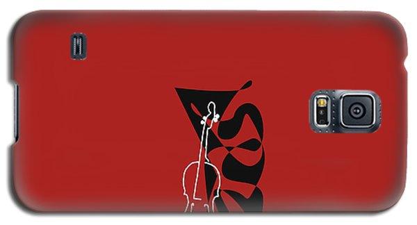 Cello In Orange Red Galaxy S5 Case by David Bridburg