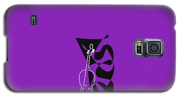 Cello In Purple Galaxy S5 Case by David Bridburg