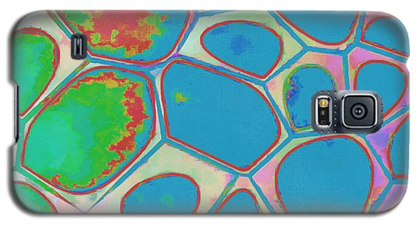 Colorful Galaxy S5 Case - Cells Abstract Three by Edward Fielding