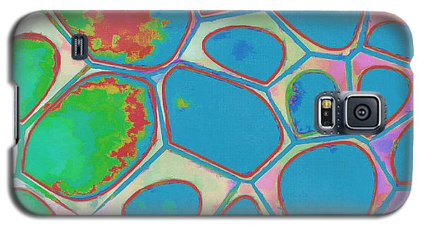 Color Galaxy S5 Case - Cells Abstract Three by Edward Fielding