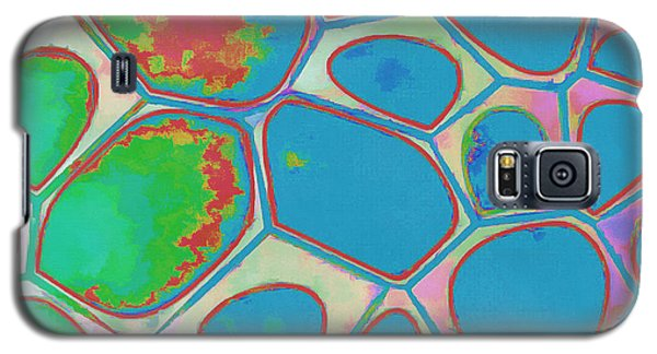Blue Galaxy S5 Case - Cells Abstract Three by Edward Fielding