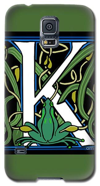 Celt Frog Letter K Galaxy S5 Case by Donna Huntriss