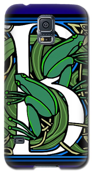 Celt Frogs Letter B Galaxy S5 Case by Donna Huntriss