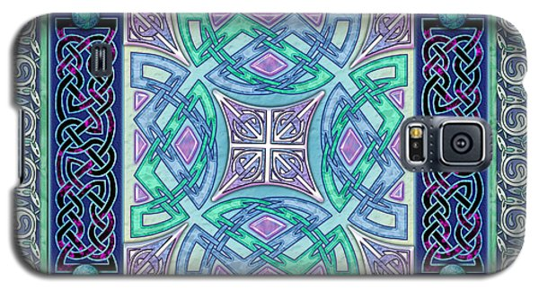 Galaxy S5 Case featuring the mixed media Celtic Atlantis Opal by Kristen Fox