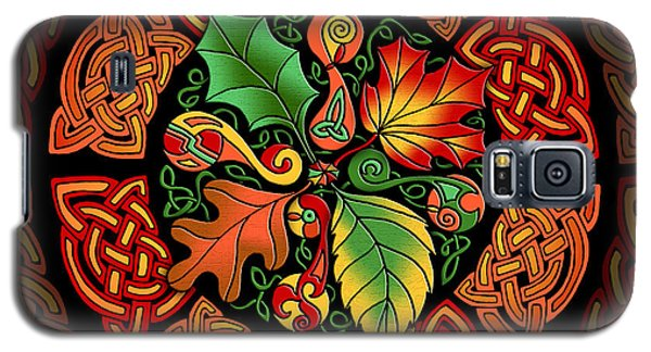 Celtic Autumn Leaves Galaxy S5 Case by Kristen Fox