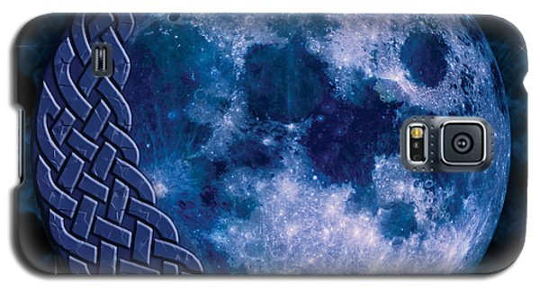 Galaxy S5 Case featuring the mixed media Celtic Blue Moon by Kristen Fox