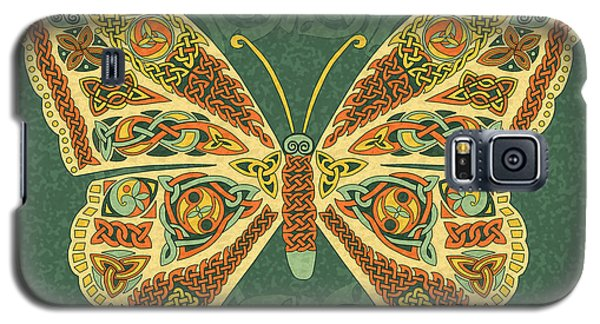 Galaxy S5 Case featuring the mixed media Celtic Butterfly by Kristen Fox