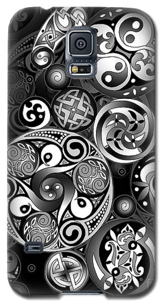 Galaxy S5 Case featuring the mixed media Celtic Clockwork by Kristen Fox