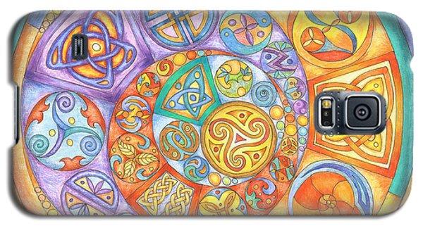 Celtic Crescents Rainbow Galaxy S5 Case