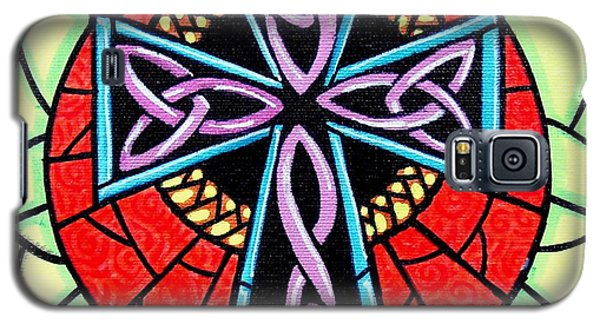 Galaxy S5 Case featuring the painting Celtic Cross by Jim Harris