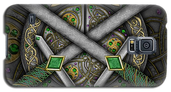 Galaxy S5 Case featuring the mixed media Celtic Daggers by Kristen Fox