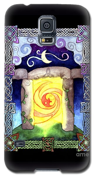 Galaxy S5 Case featuring the painting Celtic Doorway by Kristen Fox