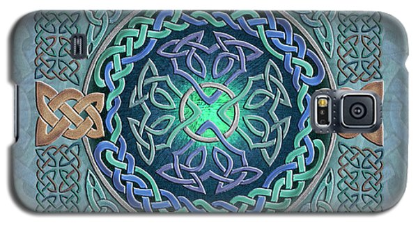 Galaxy S5 Case featuring the mixed media Celtic Eye Of The World by Kristen Fox