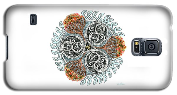 Celtic Knot With Autumn Trees Galaxy S5 Case