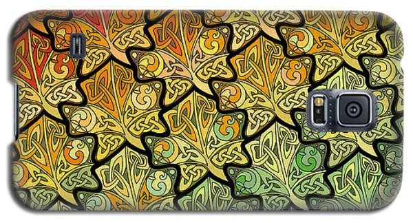 Galaxy S5 Case featuring the mixed media Celtic Leaf Transformation by Kristen Fox