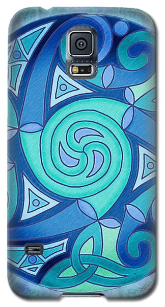 Galaxy S5 Case featuring the mixed media Celtic Planet by Kristen Fox