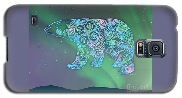Celtic Polar Bear Galaxy S5 Case by Kristen Fox