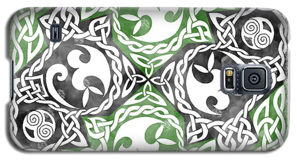 Galaxy S5 Case featuring the photograph Celtic Puzzle Square by Kristen Fox
