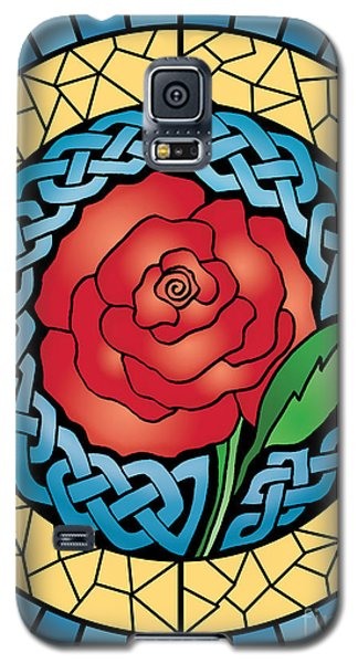 Celtic Rose Stained Glass Galaxy S5 Case