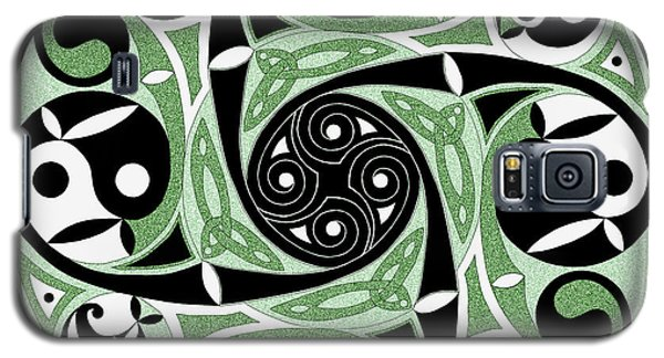 Galaxy S5 Case featuring the mixed media Celtic Spiral Stepping Stone by Kristen Fox