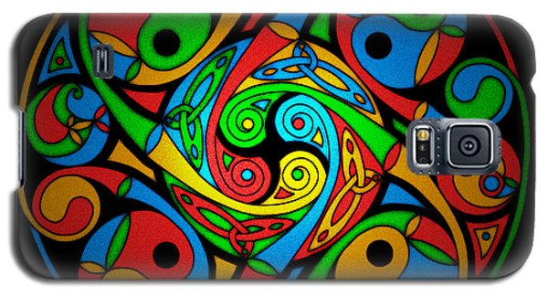 Celtic Stained Glass Spiral Galaxy S5 Case