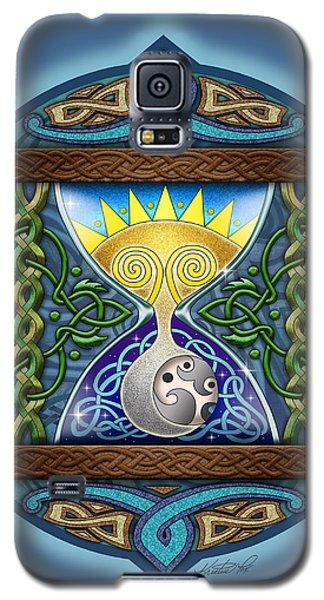 Celtic Sun Moon Hourglass Galaxy S5 Case by Kristen Fox