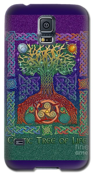 Galaxy S5 Case featuring the mixed media Celtic Tree Of Life by Kristen Fox