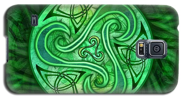 Galaxy S5 Case featuring the mixed media Celtic Triskele by Kristen Fox