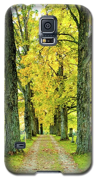 Galaxy S5 Case featuring the photograph Cemetery Lane by Greg Fortier