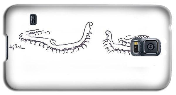 Galaxy S5 Case featuring the painting Centipedes In Discussion Cartoon by Kip DeVore