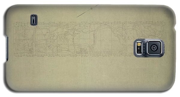 Central Park City Of New York Department Of Parks Map 1934 Galaxy S5 Case by Duncan Pearson