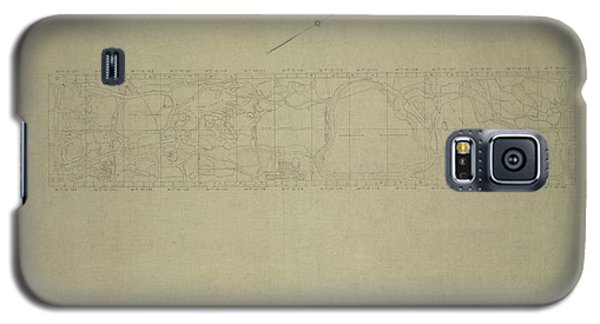 Central Park City Of New York Department Of Parks Map 1934 Galaxy S5 Case
