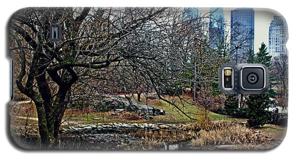 Galaxy S5 Case featuring the photograph Central Park In January by Sandy Moulder