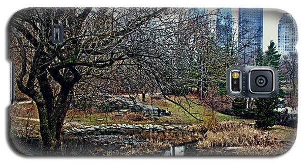Central Park In January Galaxy S5 Case by Sandy Moulder