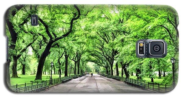 New York City Central Park Mall Galaxy S5 Case