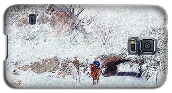 Central Park Snow Galaxy S5 Case