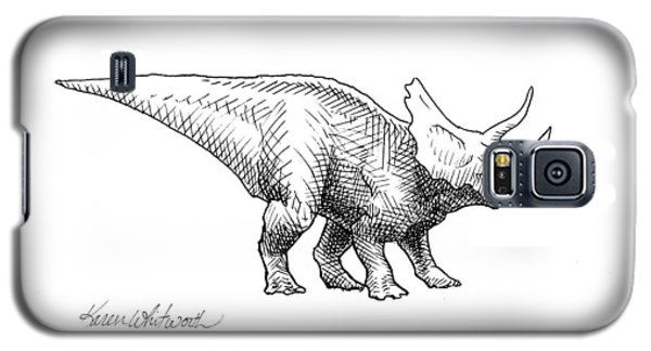 Cera The Triceratops - Dinosaur Ink Drawing Galaxy S5 Case