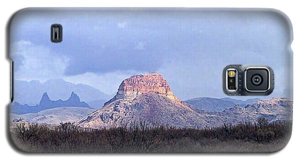 Galaxy S5 Case featuring the painting Cerro Castellan And Mule Ears  by Dennis Ciscel