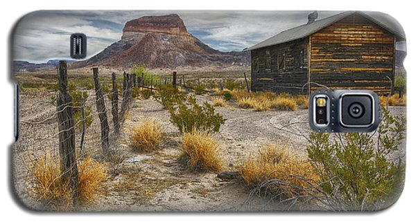 Galaxy S5 Case featuring the tapestry - textile Cerro Castellan - Big Bend - Color by Kathy Adams Clark