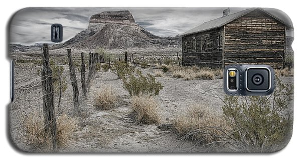 Galaxy S5 Case featuring the tapestry - textile Cerro Castellan - Big Bend  by Kathy Adams Clark